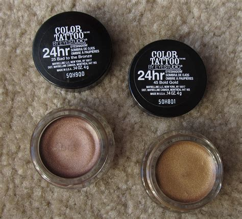 tattoo eyeshadow maybelline color 24 hour eyeshadow makeup reviews