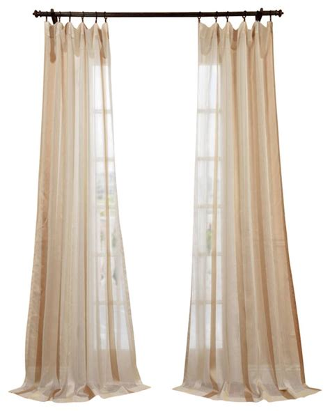 Linen Sheer Curtains Carlton Creme Linen Blend Stripe Sheer Curtain Traditional Curtains By Half Price Drapes