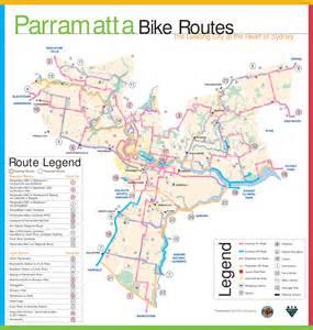 Map Bike Route by Parramatta Bike Route Map Parramatta Sydney Australia
