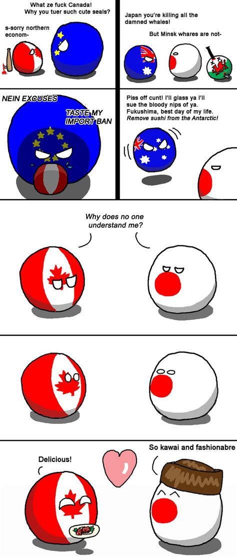 Countryball Meme - quot unlikely friends quot canada japan by fedcom polandball
