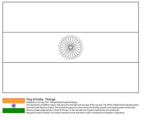coloring pages of the indian flag flag of india coloring page free printable coloring pages