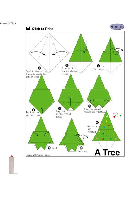 Origami Natal - origamis natal