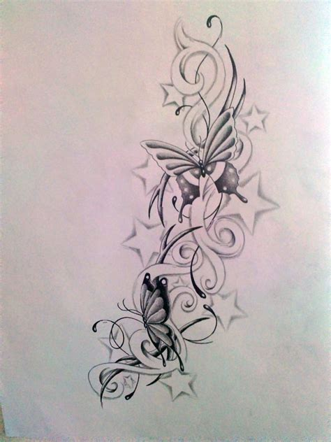 star butterfly tattoo design of butterflies and tattoos designs best design