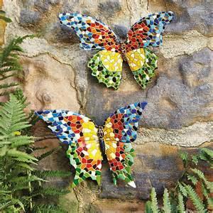 Mosaic Decorations For The Home Garden Butterfly Outdoor Fence Decor Ideas Garden Decoration Ideas