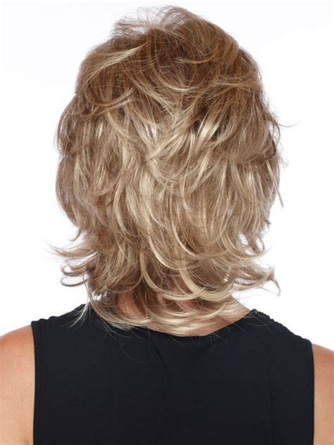 short shag hairstyles back view estetica designs angela wig capless mid length shag with