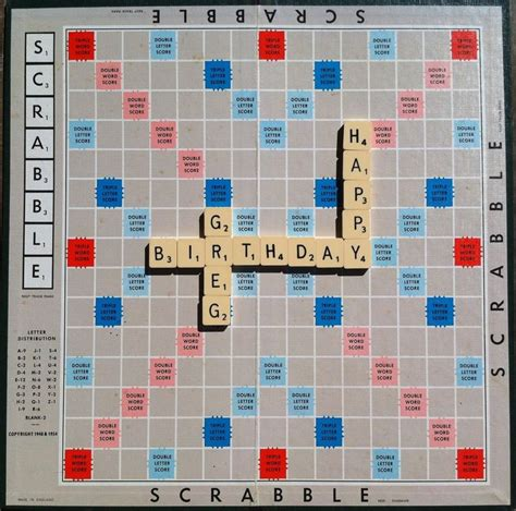 scrabble card birthday message sent as an e card using scrabble tiles