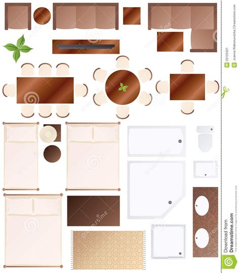 How To Read Floor Plans Symbols by Floor Plan Furniture Collection Stock Image Image 20103421