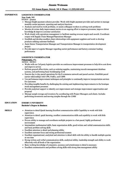 resume sample 22 global logistics resume career resumes