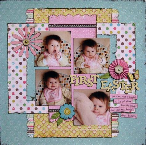 scrapbook layout easter one good thing first easter scrap attack scrapbooking