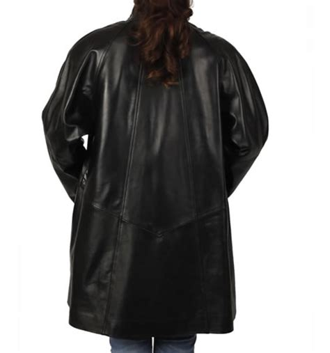 leather swing coat 3 4 length black leather swing coat from simons leather