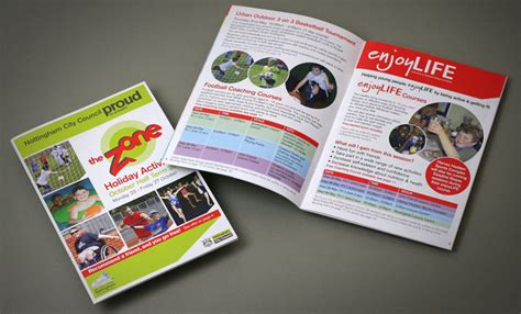 leaflet design chesterfield andrew burdett design childrens holiday activity brochure