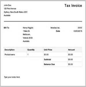 tax invoice receipt template 9 free tax invoice templates free premium templates