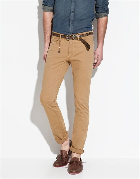Zaraman Cotton Shirt zara slim fit trousers in for lyst