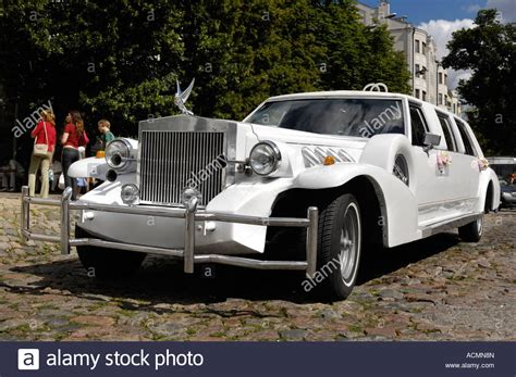 Excalibur Auto by Classic White Excalibur Limousine Luxury Wedding Car Auto