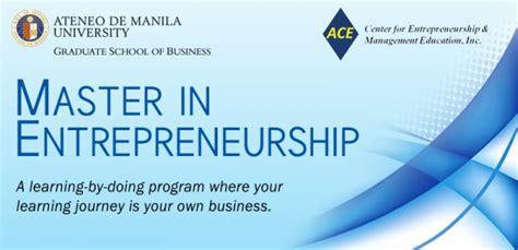 Mba Colleges For Entrepreneurship by Entrepreneurship Ateneo Graduate School Of Business