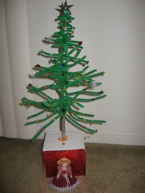 pipe cleaner christmas tree school projects and craft
