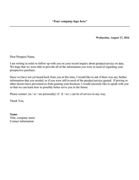 follow letter sample documents
