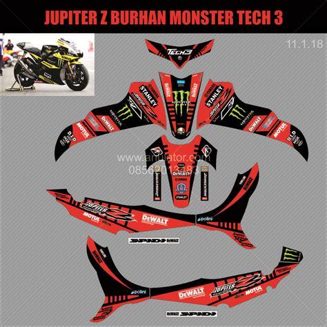 jual sticker striping motor stiker yamaha burhan jupiter z 2008 spec b anulator custom