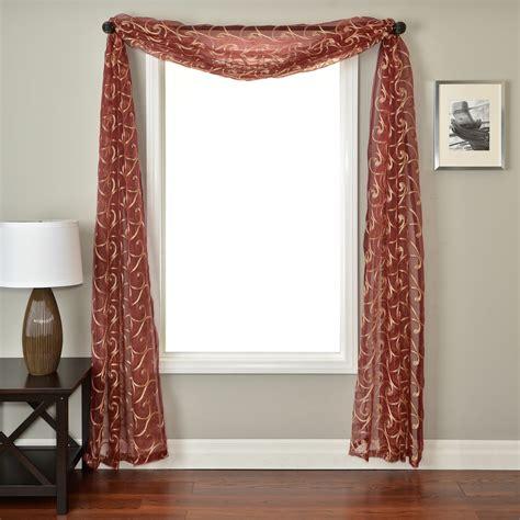 curtain scarves softline zibra window scarf curtains at hayneedle