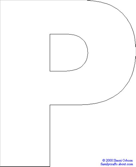 Letter P Crafts Ideas For Preschool Preschool And Kindergarten Letter Template Pages