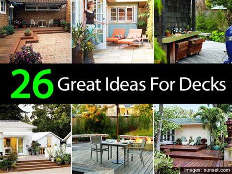 great deck designs 26 great ideas for decks