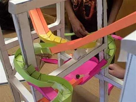 How To Make A Coaster Out Of Paper - sunfish 1st paper roller coasters