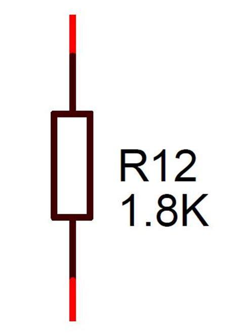 breadboard circuit symbol 1k8 resistor 0 25w