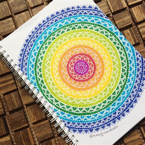 rainbow doodle drawing mademoiselle julie my rainbow mandala is finally done