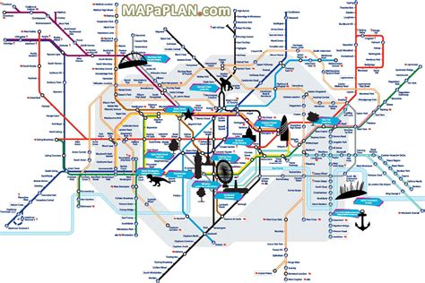 top attractions map maps with points of interest free printable maps