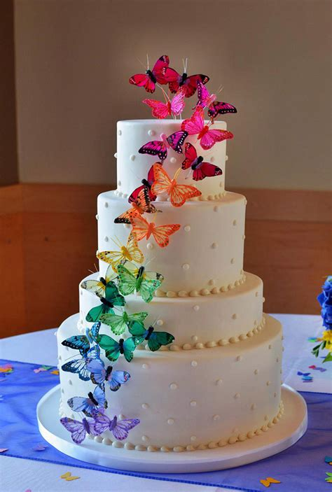 Rainbow Wedding Cakes   Mon Cheri Bridals