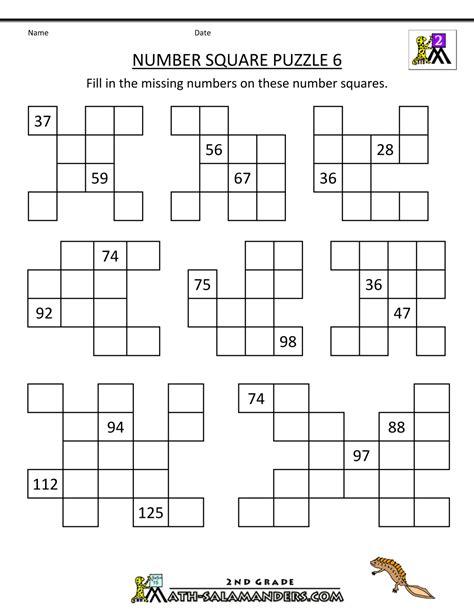 number square puzzles