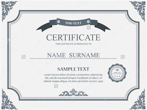 certificate layout word certificate templates