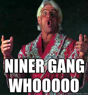 Ric Flair Memes - niner gang whooooo ric flair woooo quickmeme