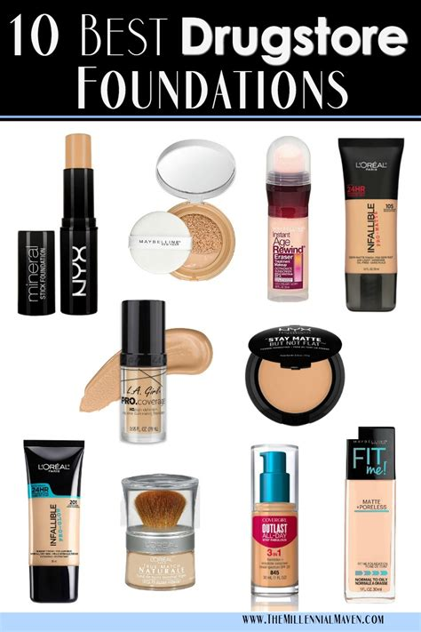 top 10 best foundations at the drugstore best drugstore