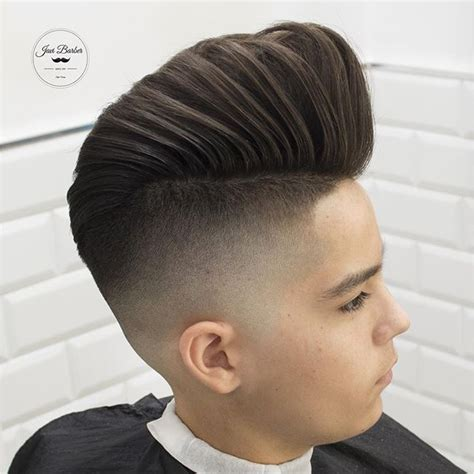 pompadours for teens skin faded hairstylec