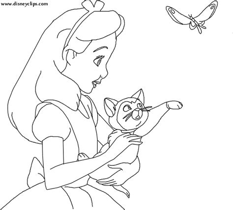 disney alice in wonderland coloring pages az coloring pages
