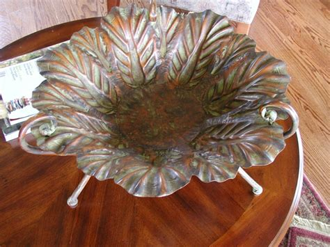 decorative metal bowls for tables metal leaf decorative bowls cocktail table display bowl