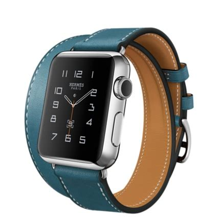 Apple Hermes 38mm Bleu Jean Leather Tour apple herm 232 s tour 38mm stainless steel