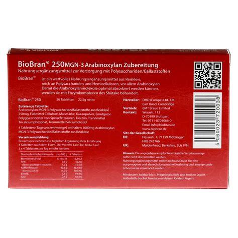 Biobran 250 Isi 30 Tablet biobran 250 tabletten 50 st 252 ck bestellen medpex