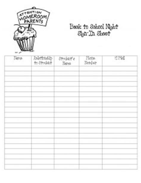 back to school sign in sheet template back to school sign in sheet msyorksclass net