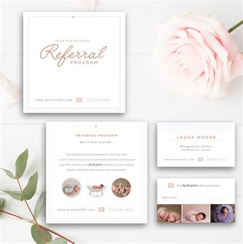 The 25 Best Referral Cards Ideas On Pinterest Beauty Salon Ideas Promotions Salon Business Referral Card Template