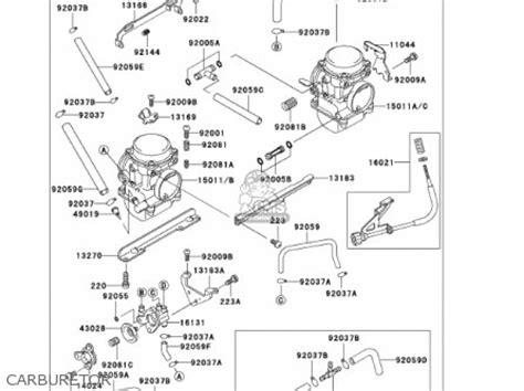 Jeting Pro Tipe F U Kwasaki 250 Crbu carburetor assy fits ex250f15 250r 2001 usa california order at cmsnl