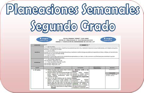 planeacion de segundo grado primaria lista de cotejo planeaci 243 n del segundo grado del tercer bloque por semana