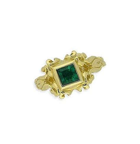 14k gold emerald lace ring galleon shipwreck re