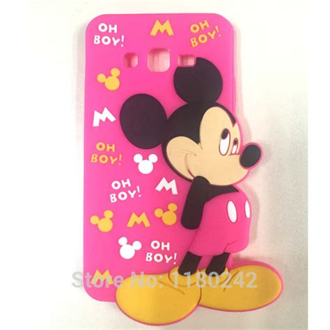 Samsung Grand Prime 3d Silicone Mickey Minnie 1 Mouse Back Cover T19 4 for samsung galaxy grand prime g530 g530h mickey mouse silicone cell phone cover back
