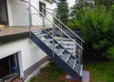 balkongeländer mit treppe balkongel 228 nder edelstahl mit klarglas vetter metall