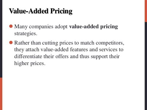 Value Added Courses For Mba by Pricing By Philiph Kotler