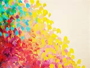 sale abstract rainbow splash ooak acrylic painting beach art