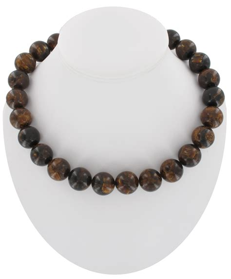 brown beaded necklace vintage chunky marbled brown beaded necklace bakelite ebay