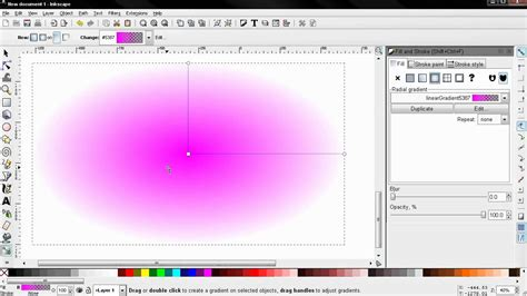inkscape tutorial gradient radial gradient fill and stroke part 5 inkscape